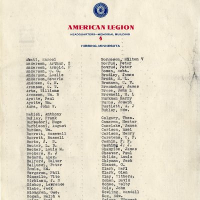 Membership of American Legion 1935 (page 1)
