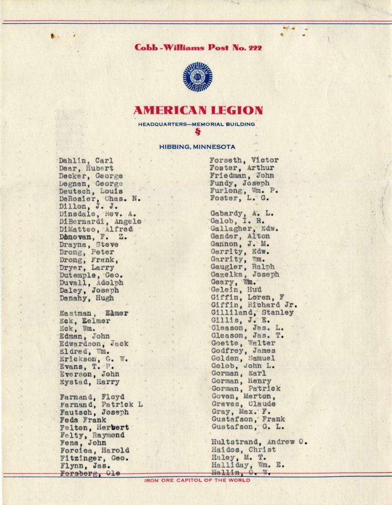 Membership of American Legion 1935 (Page 2)