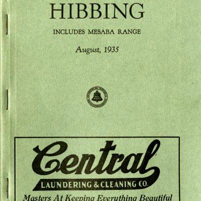 Telephone Directory Hibbing (Includes Mesaba Range)