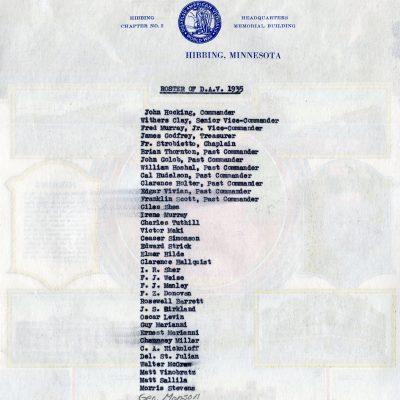 Roster of D.A.V.