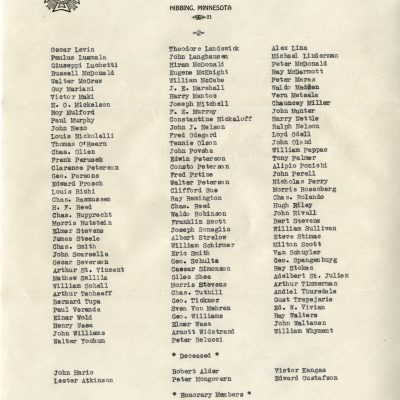 V.F.W. Membership Roster 1935 (Page 2)